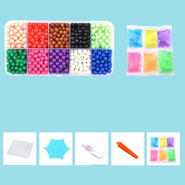 Wholesale craft sticks wholesale - Colors Sticky Beads Intelligence Diy Craft Gifts Learning Education Magic Bead Stick Children Developmental Water Collage Bean 10 24bk WW