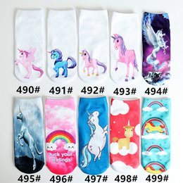food socks Coupons - Unicorn Emoji Animal Food 3D women Socks Hip Hop Odd Socks Christmas cat animal expression 3D digital printing tide socks
