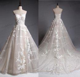 Wholesale Elegant Dress Real Sample - Magic Show Sample Lace Wedding Dresses Elegant Champagne Vintage Bridal Gowns 100% Real Photos Court Train 2018 Wedding Gowns