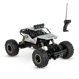 Wholesale brush drive - New Alloy Four-Wheel Drive Rc Car 4CH RC Motor Climbing Dirt Bike Buggy Radio Remote Control High Speed Racing Car Model Toys Silver Black