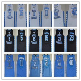 Wholesale Best Basketball Shirts - Vince Carter jerseys Mens best North Carolina Tar Heels College Basketball shirts Marcus Paig Brice Johnson Harrison Barnes blue white black