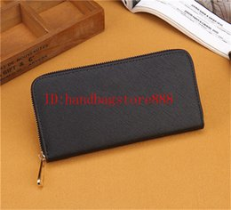 coin card Promo Codes - Hot sale fashion Women long wallets famous PU leather wallet single zipper Cross pattern clutch girl purse 0022