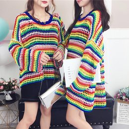 3057b5e640ad übergroße süßigkeiten Rabatt Frauen Pullover Herbst Winter Casual Pullover  Übergroße Mode Strickpullover Elegante Bonbonfarben Pullover Heißer