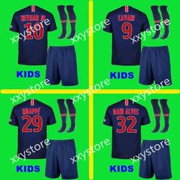 7f8717a8c 2019 Paris kids kits+sock NEYMAR JR soccer jersey 18 19 MBAPPE CAVANI  MARQUINHOS LUCAS DI MARIA MATUIDI DANI ALVES Children football shirts