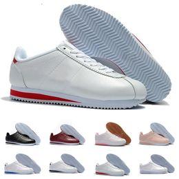 9be6e85aa3b97 nike classic cortez Nwe Classic Chaussures Cortez Basic En Cuir Casual Chaussures  Pas Cher Mode Hommes Femmes Noir Blanc Rouge Golden Baskets De Skateboard  ...