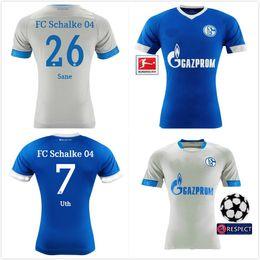 5e03c7284 2018 2019 FC Schalke 04 adult Soccer Jersey 19 BURGSTALLER 7 UTH 6  Mascarell HARIT SERDAR SANE Custom Home Away 18 19 Football Shirt schalke  soccer jersey ...