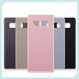"""Porta della batteria della nota di galassia online-Nuovo originale 6,3 """"Back Glass Replacement per Samsung Galaxy Note8 Note 8 Battery Cover Rear Door Custodia Case 6 Color + Sticker"""