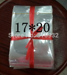 Wholesale Self Seal Cellophane Bags - Clear Resealable Cellophane BOPP Poly Bags 17*20cm Transparent Opp cosmetic Bag Packing Plastic Bags Self Adhesive Seal 17*20 cm