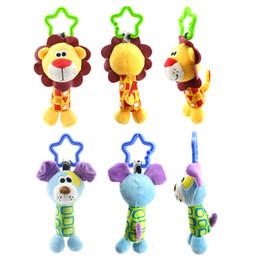 Wholesale Monkey Bedding - Kids Newborn Infant Baby Soft Toys Baby Rattle Hand Bell Bed Crib Stroller Cartoon Animal Monkey Elephant Duck Cute Toy P15