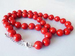 Conchas marinas del sur de china online-Señoras Mujer Joyas Natural 10mm Mar del Sur Shell Perla Perlas Redondas Necklace18 '