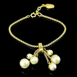 Wholesale Jewerly Gifts - Top quality 316L stainless steel Bracelet with pearls and lobster Bracelet in 23cm for women and mother gift and lover jewerly PS5221A