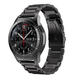Original 3 Cuentas 316L Correa de acero inoxidable para Samsung Galaxy Gear S3 Banda clásica Para Samsung Gear S3 Correa de reloj de lujo para la frontera S3 desde fabricantes