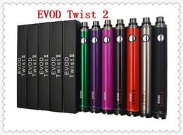 Argentina Batería EVOD TWIST II 1600mah Cigarrillo electrónico de voltaje ajustable VS Vision Spinner II Suministro
