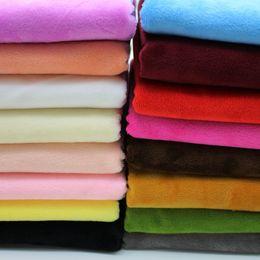 Color sólido de caoba Suave Felpa Tela Abrazo 50cm X 50cm