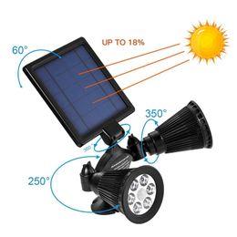 Wholesale 12 Solar Lights - Solar Lights Motion Sensor Double Spotlights 12 LED Solar Powered Dual head Rotatable Security Wall Light Patio Porch Yard Garden Garage