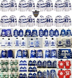 Wholesale Hockey Jersey Toronto - 2018 Stadium Series Toronto Maple Leafs Jersey 34 Auston Matthews 16 Mitchell Marner 29 William Nylander 17 Wendel Clark 12 Marleau Rielly