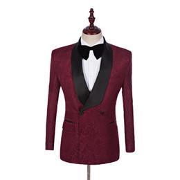 Alta calidad guapo chal solapa padrinos de boda novio cruzado esmoquin trajes de hombre boda / fiesta de graduación / cena mejor hombre blazer (chaqueta + pantalones + corbata) desde fabricantes