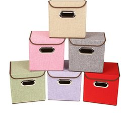 Wholesale Clothes Storage Bin - Folding home Organization Boxes Storage Boxes Bins Office Jewely Clothing Toys Organizer Non-Woven Storage Cases 25*25*25cm KKA3868
