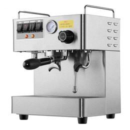 cafeteras Rebajas Cafetera exprés comercial CRM3012 Cafetera de material de acero inoxidable totalmente automática Cafetera 15 bar Presión 1.7L Capacidad