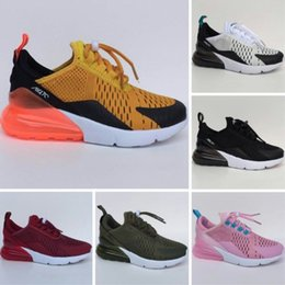 Wholesale fabric shoes pattern - 270 OG Mesh Breathable Kids Running Shoes Originals 27C OG Half Palm Aircushion Shock Absorption Kids 270s Sports Sneakers