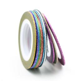12 colori Scelta Matte Color Rolls 1mm Striping Tape Line Stili grezzi Nail art Tips Decalcomanie Decorazioni di bellezza Accessori per unghie da
