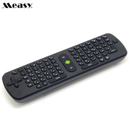 Wholesale Rf Wireless Mouse Keyboard - Measy RC11 Russian English Mini Wireless Keyboard Air Mouse for Android TV Box PC IPTV Mini PC Laptop - 20pcs