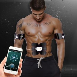 Wholesale Remote Trainers - Muscle Stimulator EMS Stimulation Body Slimming Machine Wireless App Remote Control Abdominal Muscle Exerciser Trainer Massager