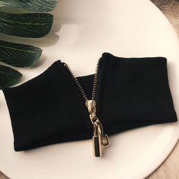 2019 zipper chokers Designer de jóias gargantilha colar de malha elástico com zíper gargantilha larga para as mulheres simples atacado gargantilha moda quente desconto zipper chokers