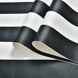 Вертикальные белые полосы онлайн-Modern Black White Horizontal Vertical Stripes Wallpaper For Walls Roll Home Decor PVC Waterproof Living Room Bedroom Wall Paper