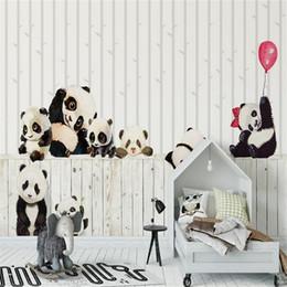 personalizzato 3d moderna carta da parati camera dei bambini soggiorno camera da letto parete murale minimalista giocando panda carta da parati di bambù decorazioni per la casa da