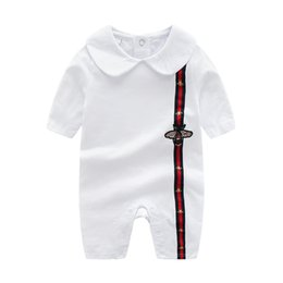 Mameluco caliente bebé online-Retail Cartoon Baby Romper Spirng Otoño de manga larga Baby Boy Girl Romper Infant Warm Jumpsuit Niños Algodón bebé vestir