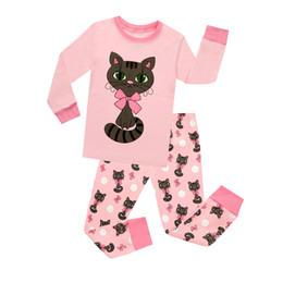 2019 pijamas de natal para crianças 3t 2018 Combinando Meninas e Conjuntos de Pijama de Boneca Crianças Gato Bonito Algodão Pijama Do Bebê Meninas Pijamas Crianças Pijama Unicórnio Nightwear Homewear