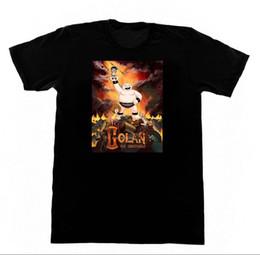 18 téléviseurs en Ligne-GOLAN L'Insatiable Shirt 18 T-shirt TV Horreur De Bande Dessinée Goth Pentagram SatanMen Streetwear T-Shirt