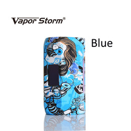 Wholesale vw led - Original Vapor Storm 200w Vape Mod Storm230 Box Colorful VW TCR Bypass Mode Fashion E Cigarette Support Dual 18650 Big LED Screen Mods