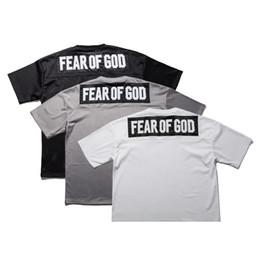 Wholesale White Mesh Shirt - Summer Fear Of God T-Shirt Men Short Sleeve Mesh Sport Basketball Tee Justin Bieber Fashion Street Shirt Hip Hop Oversized Top PXG1115
