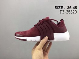 Wholesale Flat Suede Boots Women - Top quality 2018 Air Presto Ultra Suede Shoes Red green Black prestos Boots Cheap Men Women Sneakers Outdoor Trainers Sports Shoes