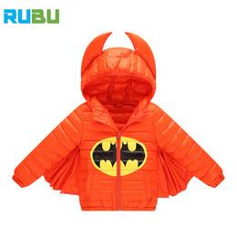 Wholesale Girls Parkas - Batman Style 2017 New Kids Warm Coats Jackets Autumn Winter Boy Coat Parkas Children's Down Jacket For Boy Girl Outerwear JSB362