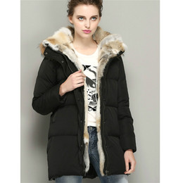 Wholesale female goose - Winter Jacket Womens Down Coat Real Fur Hooded Parkas White Goose Down Coats Female Jackets Warm Parka Brands 2016 High Quality