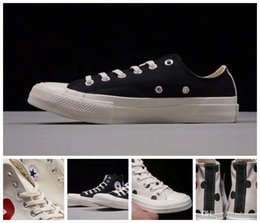 Wholesale God Pink - 2018 brand CONVERSED x CdG PLAY high top designer black Canvas shoes one star white clot shoes off fear god chaussures