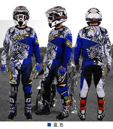 Motocross jersey ropa en venta-Nuevo diseño Motocross Race Suit Men Big Size M 3XL 4XL Azul Verde Ktm Dirt Bike Off-road Clothing Atv Motocicleta Jersey Traje azul