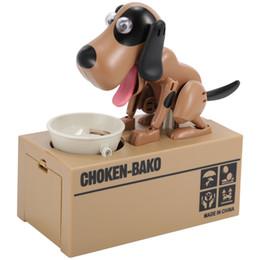 banco de comer dinero Rebajas Choken Puppy Hungry Eating Dog Moneda Bank Ahorro de dinero Caja Piggy Bank Para Niños Regalo de la venta caliente