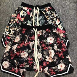 Wholesale women cotton beach shorts - New Fear Of God Shorts Men Women Floral The 1987 Collection FOG Beach Mesh Shorts Summer Style Fear Of God Shorts S-XL 7 style