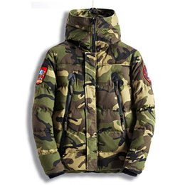 Wholesale green parkas for men - Fashion Men's Camouflage Winter Jackets Thick Warm Camo Coats For Man Thermal Parkas High Quality Size M-XXXL