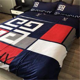 2020 conjuntos de cama ocidentais Carta estilo ocidental cama Bag Suit Folha de alta qualidade 4 peças Bedding Set Moda Mark Home Textiles Suit desconto conjuntos de cama ocidentais