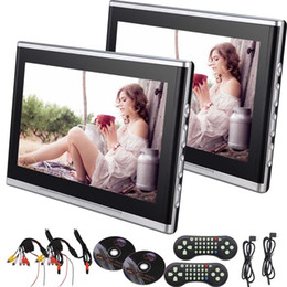 Wholesale lcd monitor car - Car Headrest DVD Player DVD Monitor video TFT LCD Screen car DVD Headrest Monitor Backseat DVD CD USB Player HDMI Game Remote Control