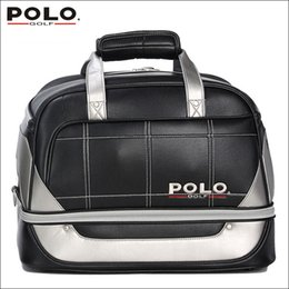 Wholesale high density bags - Brand POLO. Golf Clothing bag Shoes Bag Storage Clothing Travel Tote Bag, Anti-Friction PU High Density Nylon