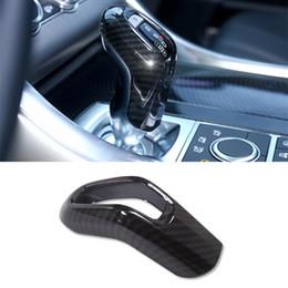 Color de fibra de carbono Gear Shift Head Trim Cover para Land Rover Range Rover Sport 2014-17 ABS Gear Handle Sleeve Trim desde fabricantes