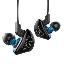 Kz estéreo online-KZ ES3 Auriculares HIFI Deporte Estéreo Auriculares Híbrido Dinámico Y Equilibrado Armature Auriculares In Ear Auriculares con Micrófono para Samsung Galaxy S9