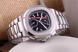 Wholesale nautilus steel - 4 Color Luxury Topselling 40.5mm Nautilus 5990 1A-001 Stainless Steel High Quality Asia Mechanical Transparent Automatic Mens Watch Watches
