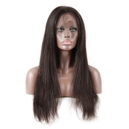 Wholesale Synthetic Remy - 360 Lace Frontal For Black Women Pre Plucked With Baby Hair Straight Peruvian Remy Hair Human Hair CLosures